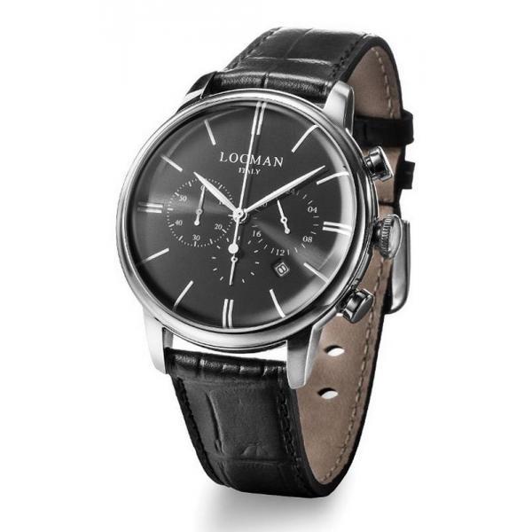 Buy Locman Men's Watch 1960 Quartz Chronograph 0254A01A-00BKNKPK