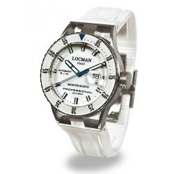 Buy Locman Men's Watch Montecristo Professional Diver Automatic 051300WBWHNKSIW