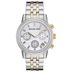 Michael Kors Ladies Watch Ritz MK5057 Chronograph Mother of Pearl