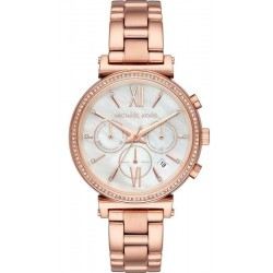 Michael Kors Ladies Watch Sofie MK6576 Chronograph Mother of Pearl