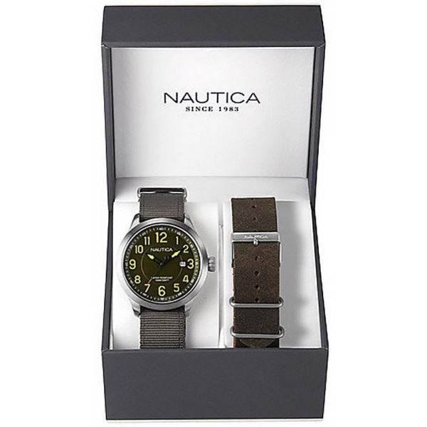 Buy Nautica Men's Watch NCC 01 Date Box Set NAI12525G
