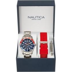 Nautica Men's Watch NST 07 Box Set NAI16500G Multifunction