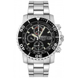 Seiko Men's Watch Alarm Chronograph Quartz SNA225P1