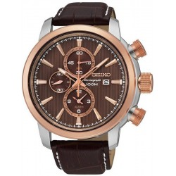 Seiko Men's Watch Neo Sport Alarm Chronograph Quartz SNAF52P1