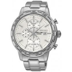 Seiko Men's Watch SPL047P1 World Time Chronograph Alarm Quartz