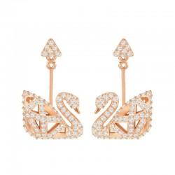 Swarovski Ladies Earrings Facet Swan 5358058