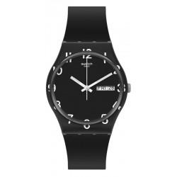 Swatch Unisex Watch Gent Over Black GB757