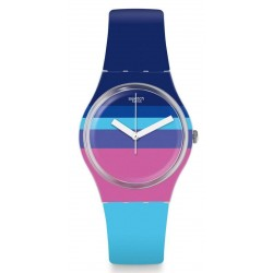 Swatch Ladies Watch Gent Azul'Heure GE260