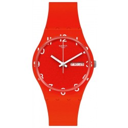 Swatch Unisex Watch Gent Over Red GR713