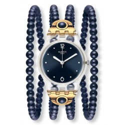 Swatch Ladies Watch Lady Night Prohibition LK352