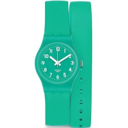 Swatch Ladies Watch Lady Mint Leave LL115