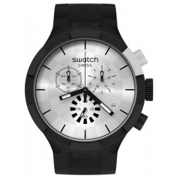 Swatch Watch Big Bold Chrono Chequered Silver SB02B404