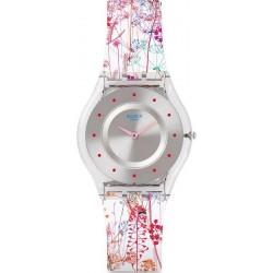 Swatch Ladies Watch Skin Classic Jardin Fleuri SFE102