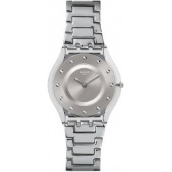 Buy Swatch Ladies Watch Skin Classic Silver Drawer SFK393G