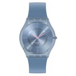 Buy Swatch Ladies Watch Skin Classic Denim Blue SS08N100