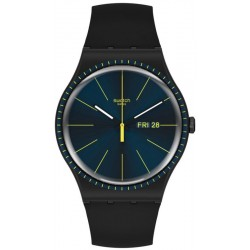 Swatch Men's Watch New Gent Black Rails SUOB731