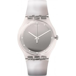 Swatch Ladies Watch New Gent Shiny Moon SUOK121
