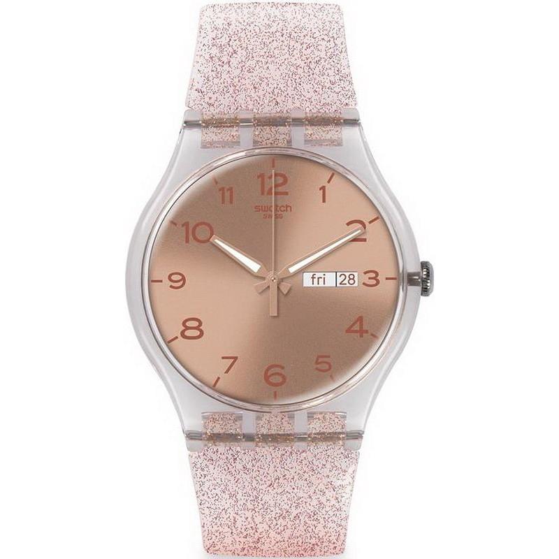 Swatch Ladies Watch New Gent Pink Glistar Suok703 Crivelli