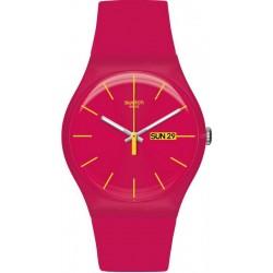 Swatch Ladies Watch New Gent Rubine Rebel SUOR704