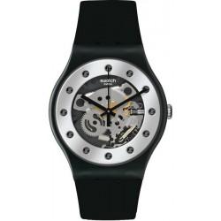 Swatch Unisex Watch New Gent Silver Glam SUOZ147