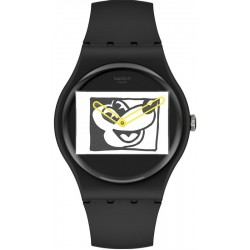 Buy Swatch Mickey Mouse Watch Mickey Blanc Sur Noir SUOZ337