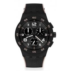 Buy Swatch Mens Watch Chrono Plastic Black Cord SUSB106