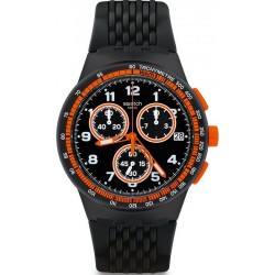 Swatch Men's Watch Chrono Plastic Nerolino SUSB408 Chronograph