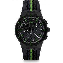 Swatch Men's Watch Chrono Plastic Laser Track SUSB409 Chronograph