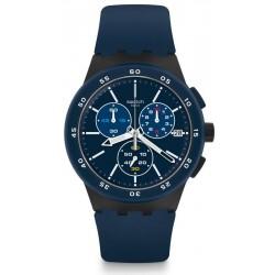 Buy Swatch Men's Watch Chrono Plastic Blue Steward SUSB417 Chronograph