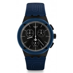 Buy Swatch Unisex Watch Chrono Plastic X-District Blue SUSB418