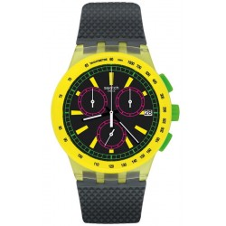 Swatch Unisex Watch Chrono Plastic Yel-Lol SUSJ402 Chronograph