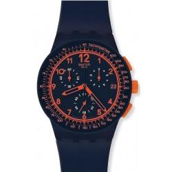 Buy Swatch Unisex Watch Chrono Plastic Rebirth Blue SUSN401 Chronograph
