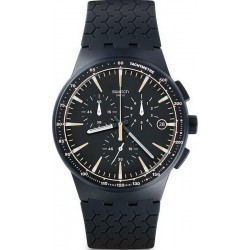 Swatch Men's Watch Chrono Plastic Meine Spur SUSN407 Chronograph