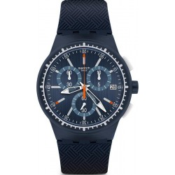 Swatch Men's Watch Chrono Plastic Gara In Blu SUSN410 Chronograph