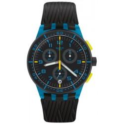 Swatch Unisex Watch Chrono Plastic Blue Tire SUSS402 Chronograph