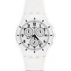 Buy Swatch Unisex Watch Chrono Plastic Twice Again White SUSW402 Chronograph