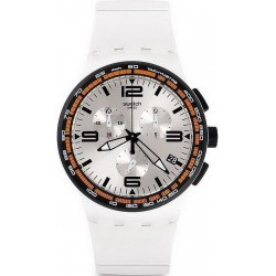 Buy Swatch Unisex Watch Chrono Plastic White Blades SUSW405 Chronograph
