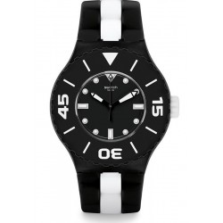 Swatch Men's Watch Scuba Libre B&W Deep SUUB102