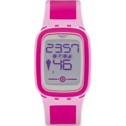 Swatch Ladies Watch Digital Touch Zero One Pinkzero SUVP100