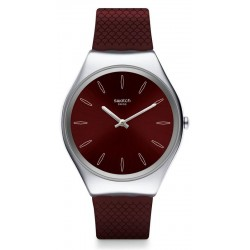 Buy Swatch Ladies Watch Skin Irony Skinburgundy SYXS120