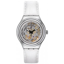 Swatch Unisex Watch Irony Automatic Uncle Charly Leather YAS112C