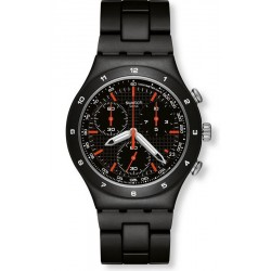 Swatch Men's Watch Irony Chrono Black Coat YCB4019AG Chronograph
