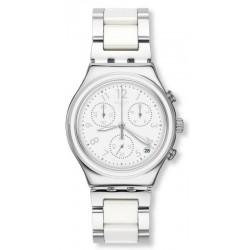 Buy Swatch Ladies Watch Irony Chrono Snow Dream YCS603G Chronograph