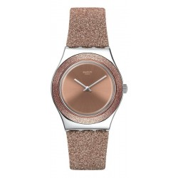 Swatch Ladies Watch Irony Medium Rose Sparkle YLS220