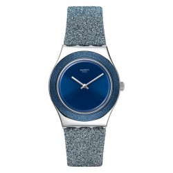 Buy Swatch Ladies Watch Irony Medium Blue Sparkle YLS221