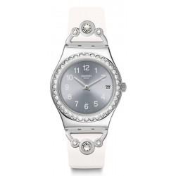 Swatch Ladies Watch Irony Medium Pretty In White YLS463