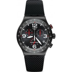 Swatch Men's Watch Irony Chrono Black Is Back YVB403 Chronograph