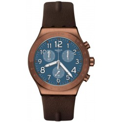 Swatch Men's Watch Irony Chrono Back To Copper YVC100 Chronograph