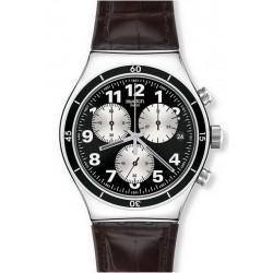 Swatch Men's Watch Irony Chrono Browned YVS400 Chronograph