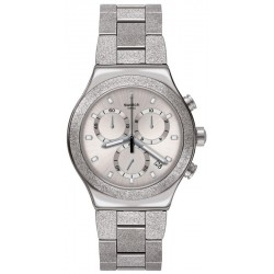 Swatch Unisex Watch Irony Chrono Silver Explosion YVS472G Chronograph